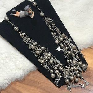 Vintage Boho Hippie Chic Multi-Strand Necklace